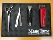 Mane Tame Barber Station Mat Top View