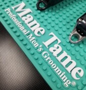Barber Mat Tiffany Teal – Close Up View