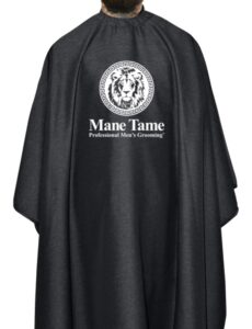 Mane Tame BarberStrong Cape Gunmetal Grey