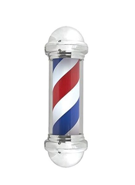 Mane Tame 28″ Chrome-Plated Rotating Barber Pole – with Acrylic Outer Cylinde